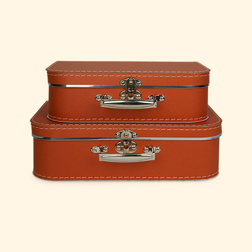 Rust Kid's Concept Paper Suitcase Set of 2
