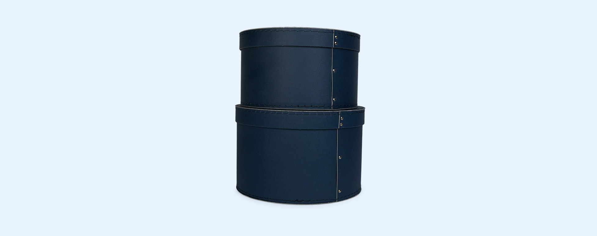 Blue Kid's Concept Round Storage Boxes Set of 2