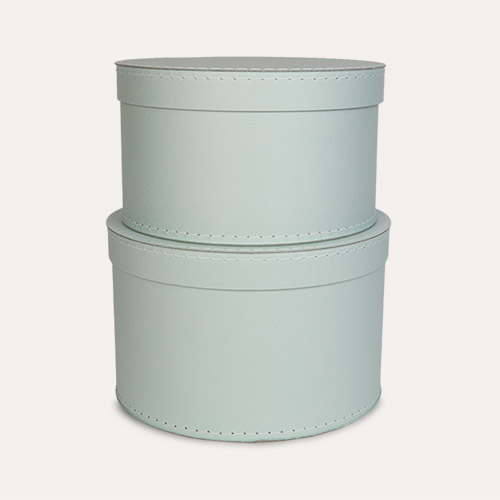 Light Green Kid's Concept Round Storage Boxes Set of 2