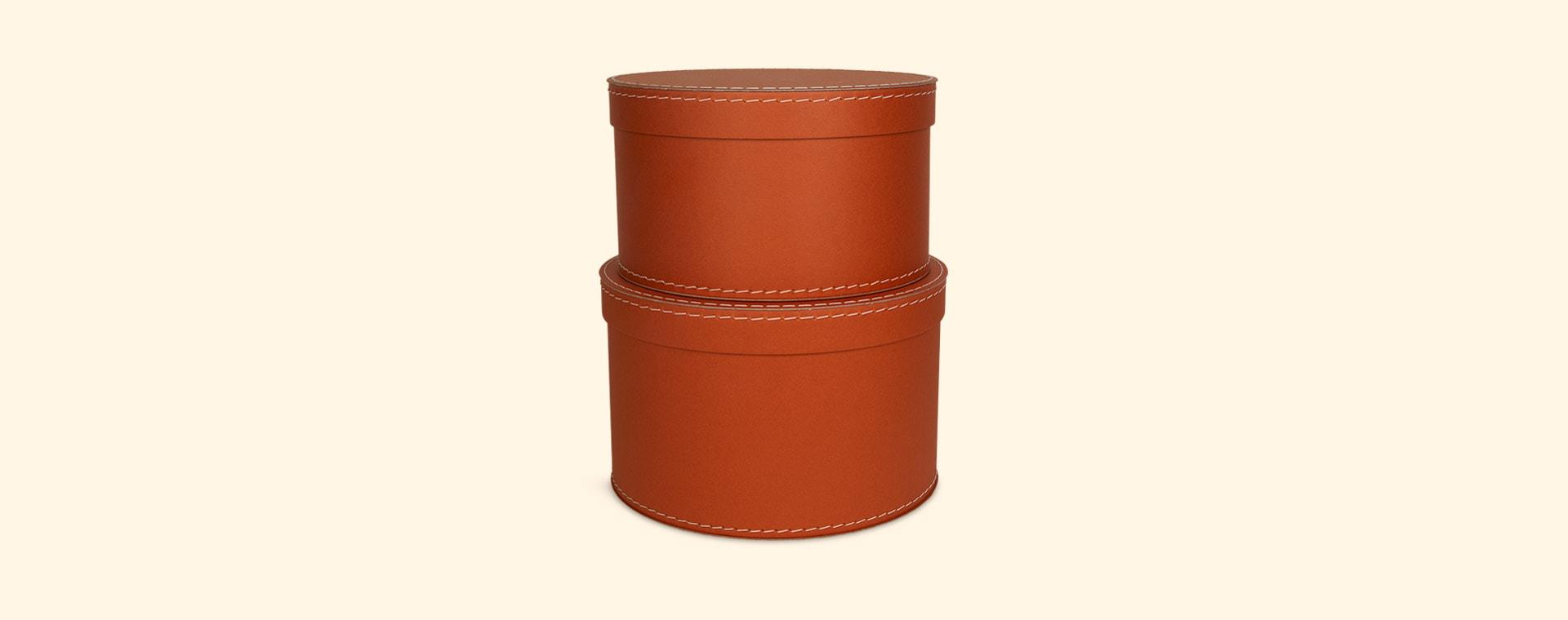 Rust Kid's Concept Round Storage Boxes Set of 2