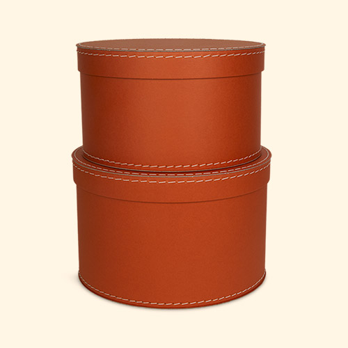 Rust Kid's Concept Round Storage Boxes 2 Set