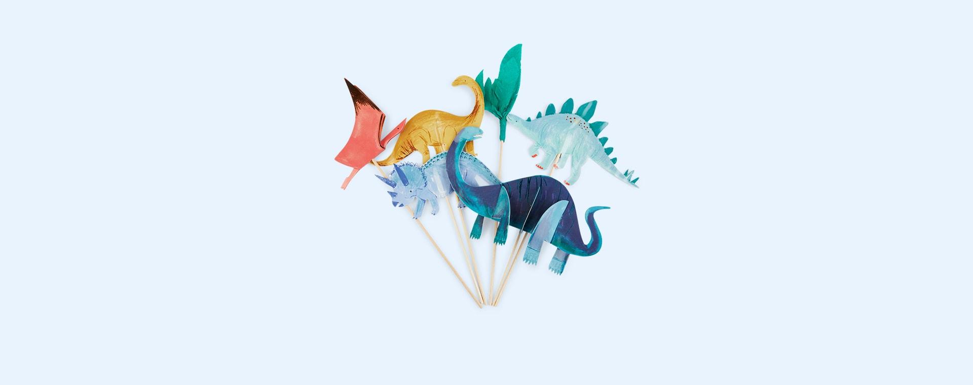 Multi Meri Meri Dinosaur Kingdom Cake Toppers