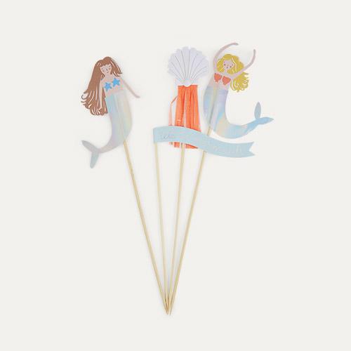 Multi Meri Meri Lets Be Mermaids Cake Toppers
