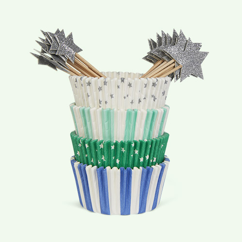 Blue Star Meri Meri Star Cupcake Kit