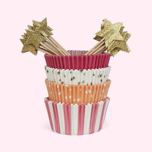 Pink Star Meri Meri Star Cupcake Kit