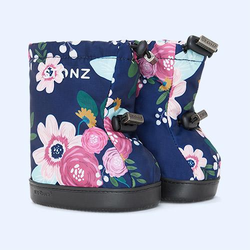 Wildflower Navy Stonz Toddler Booties