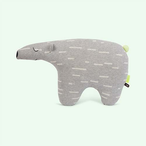 Grey OYOY Polar Bear Knut Cushion