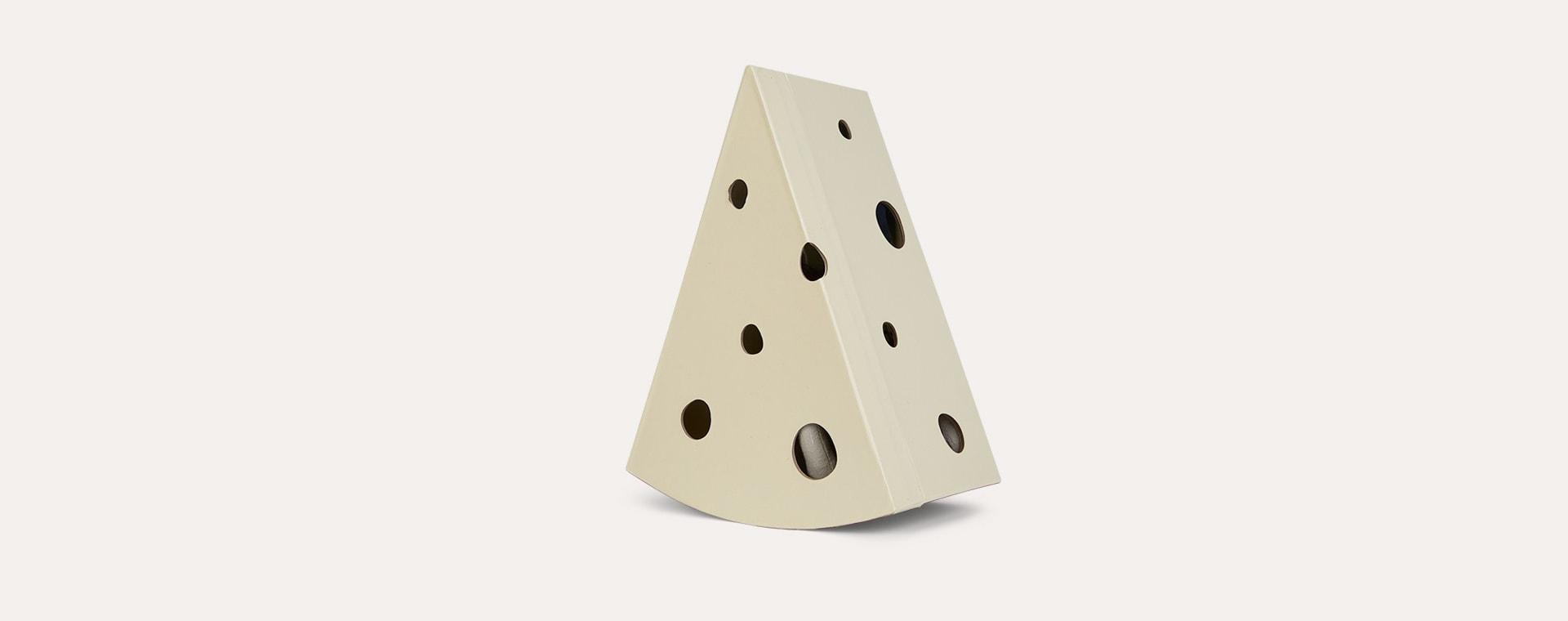 Light grey Maileg Rat in Cheese box