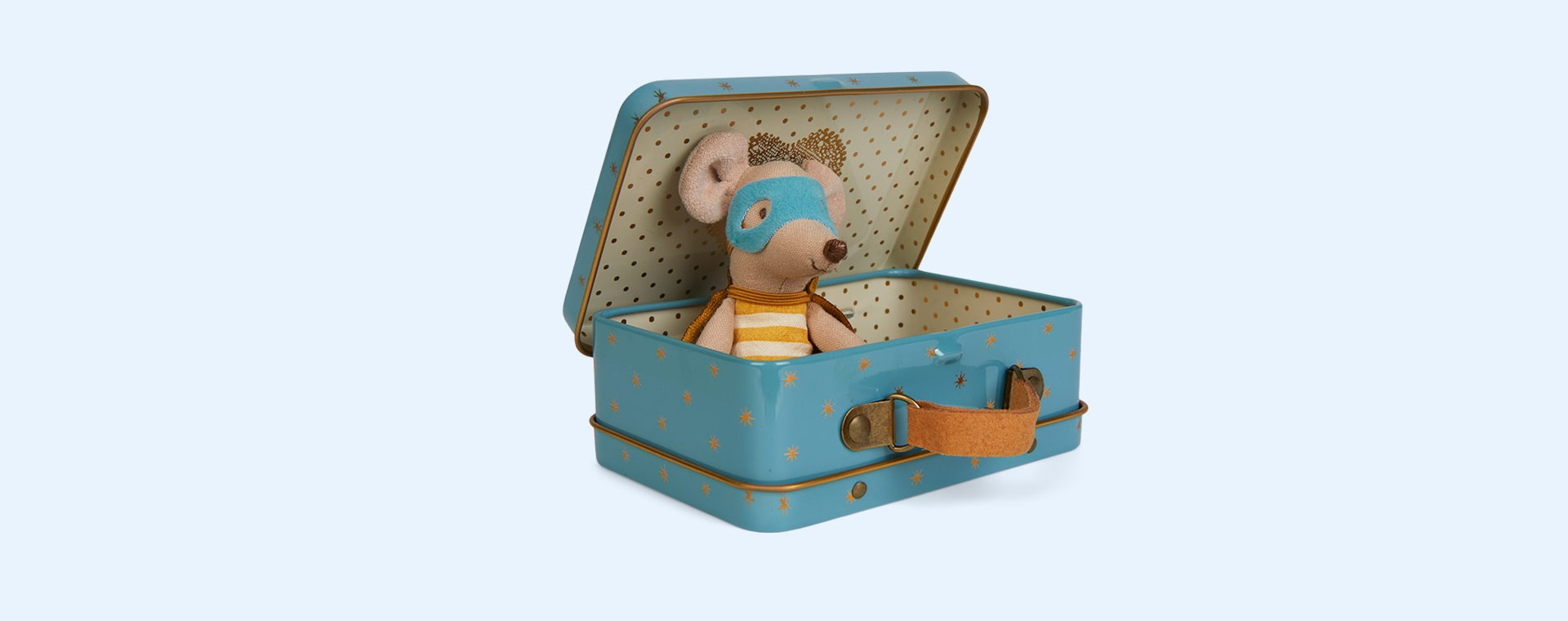 Little Brother Maileg Superhero Mouse In Suitcase