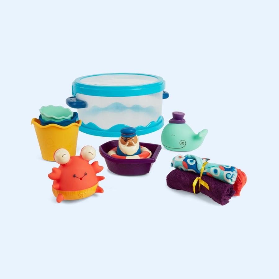 Buy the B. Toys Wee B.Splashy Bath Playtime Set. Tried & Tested by ...