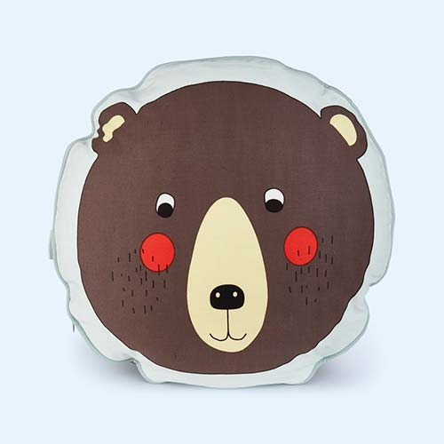 Brown OYOY Bear Cushion