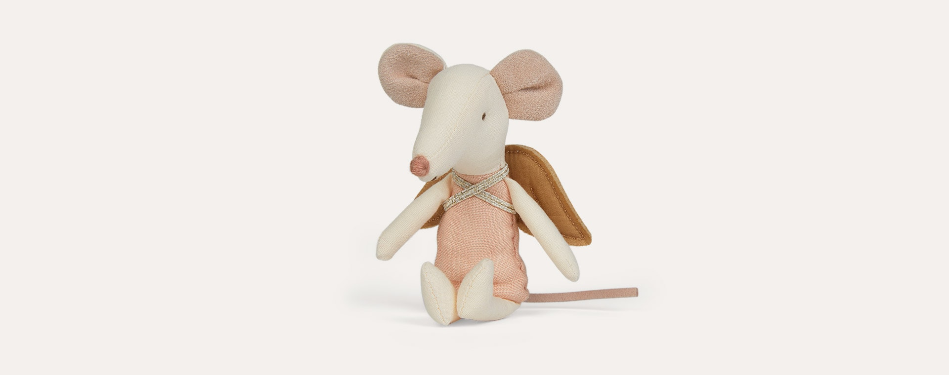 Big Sister Maileg Angel Mouse in Book