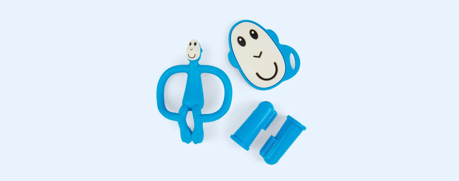 Blue Matchstick Monkey Teething Starter Set