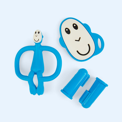 Blue Matchstick Monkey Teething Starter Set