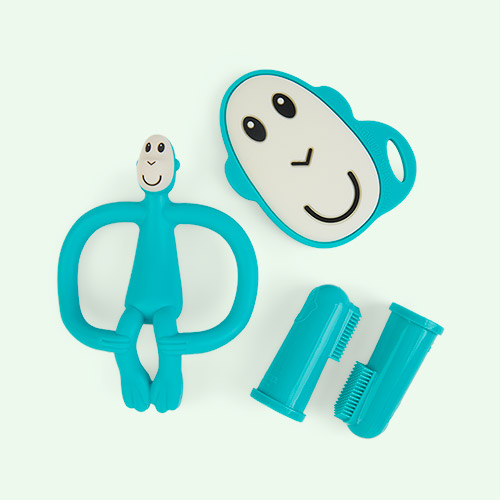 Green Matchstick Monkey Teething Starter Set