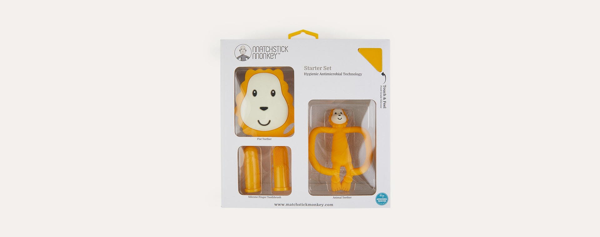 Lion Matchstick Monkey Teething Starter Set