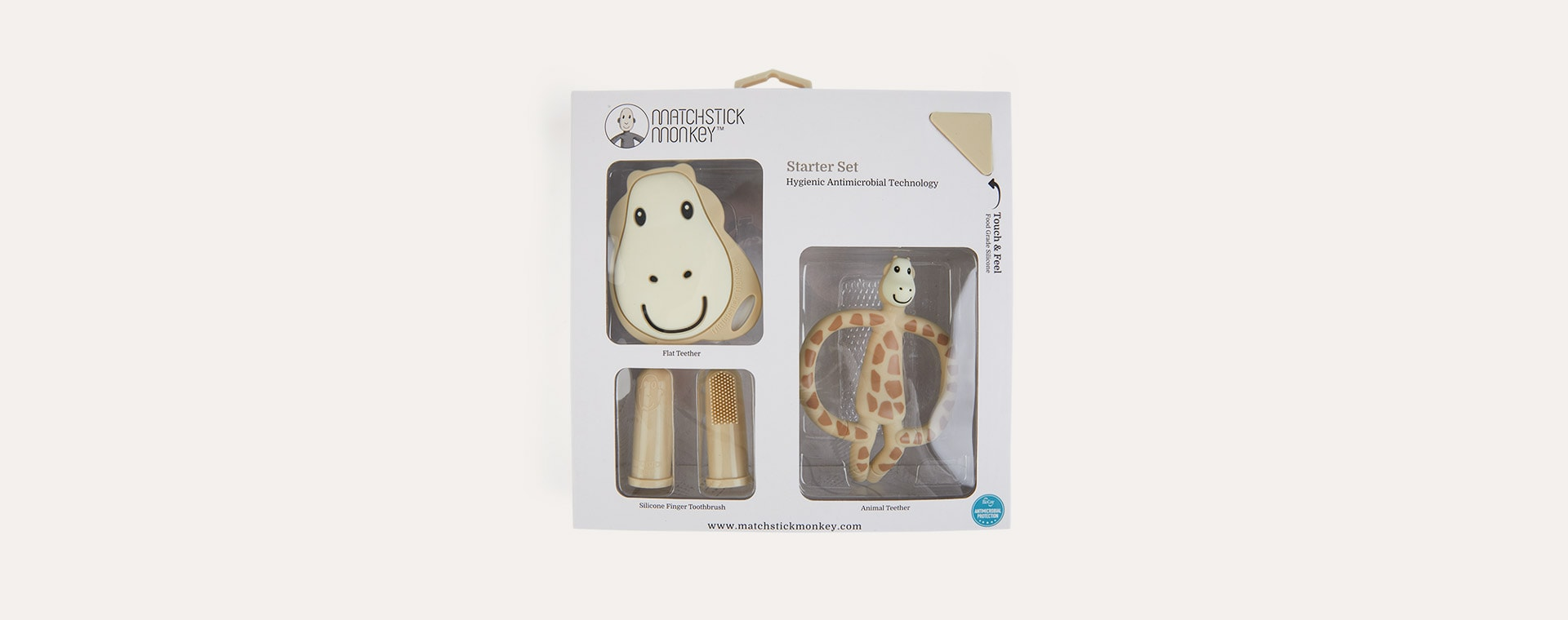 Giraffe Matchstick Monkey Teething Starter Set