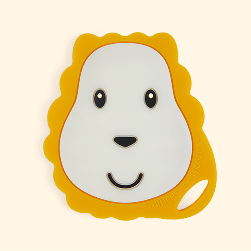 Lion Matchstick Monkey Flat Face Teether