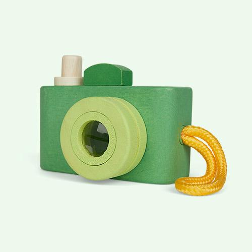 Green Legler Wooden Toy Camera