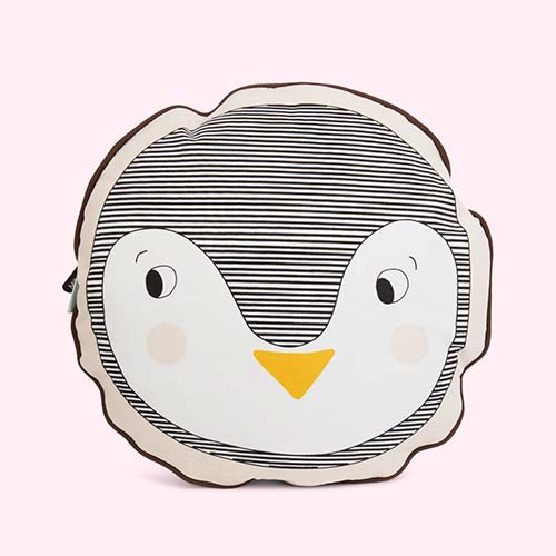 Black OYOY Penguin Cushion