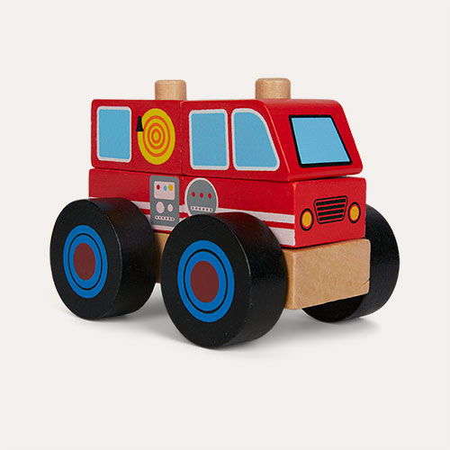 Red Legler Toys Construction Vehicle Fire Engine