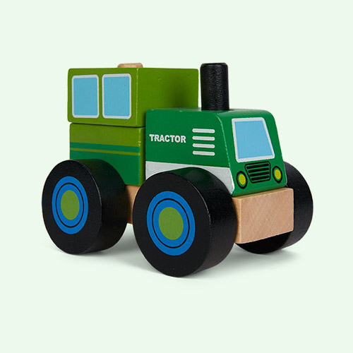 Green Legler Toys Construction Vehicle Tractor