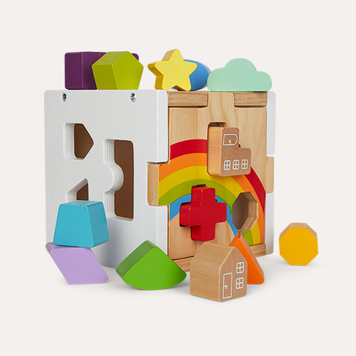 Rainbow Legler Toys Shape Fitting Cube