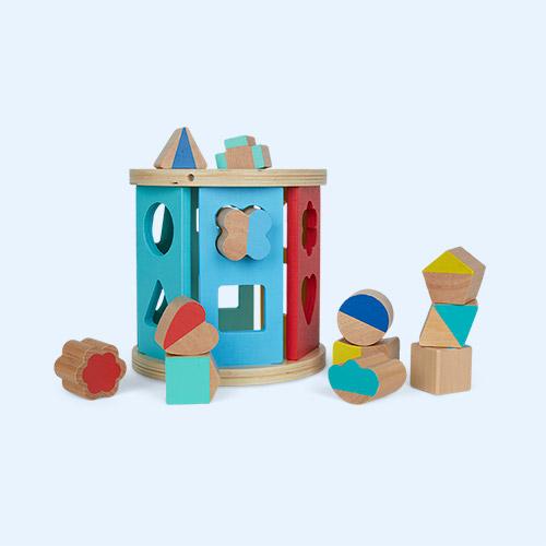 Multi Legler Toys Wooden Rolling Shape Sorter