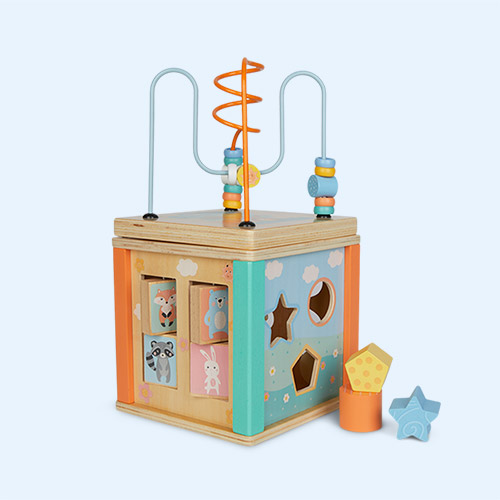 Multi Legler Toys Pastel Motor Activity Cube