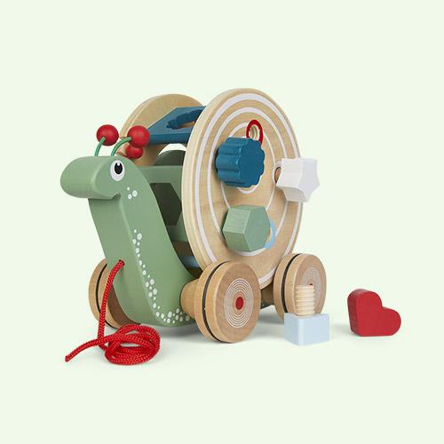 Multi Legler Toys Pull Along Shape Fitting Snail