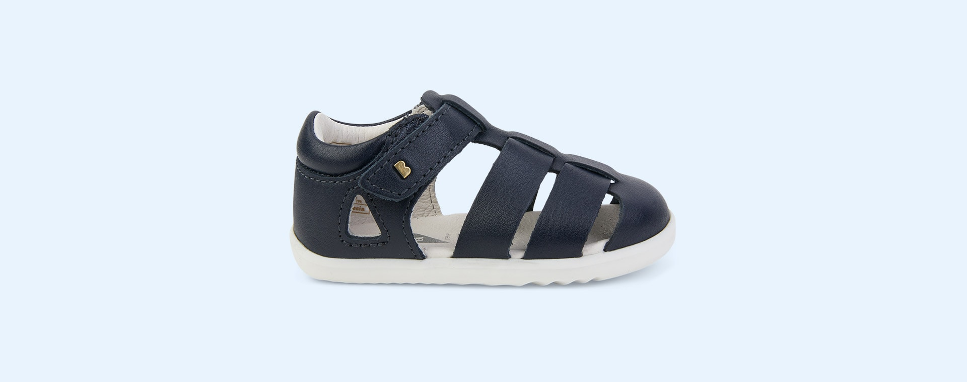 Navy Bobux Step Up Tidal Closed Sandal