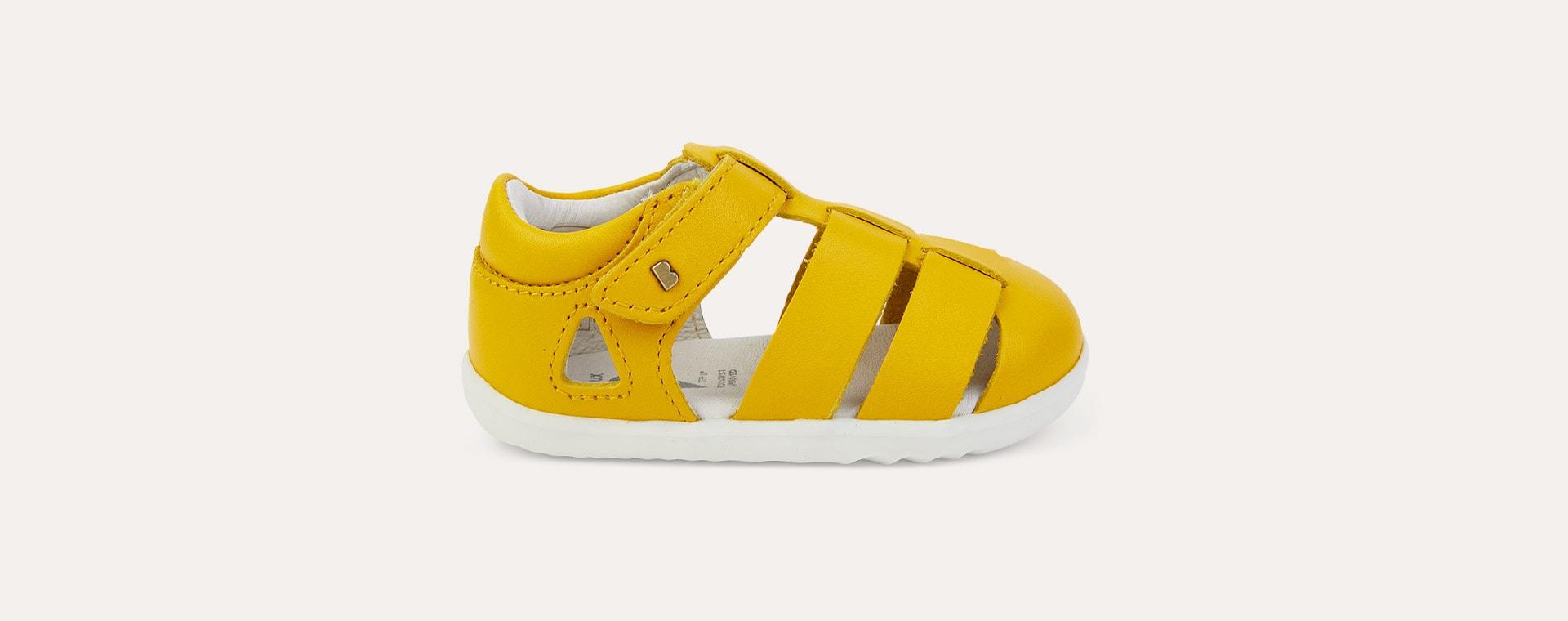 Yellow Bobux Step Up Tidal Closed Sandal