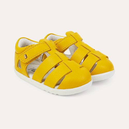 Yellow Bobux Step Up Tidal Closed Sandal
