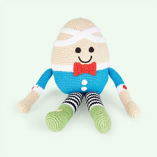 Blue Pebble Humpty Dumpty Crochet Toy