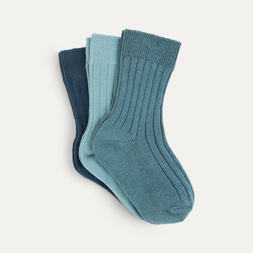 Ocean Mix KIDLY Label 3-Pack Socks