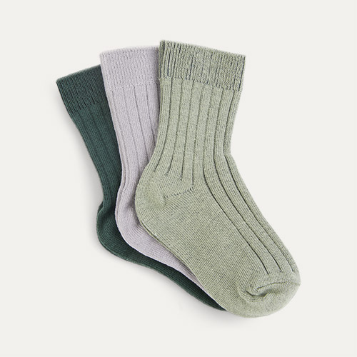 Forest Mix KIDLY Label 3-Pack Socks