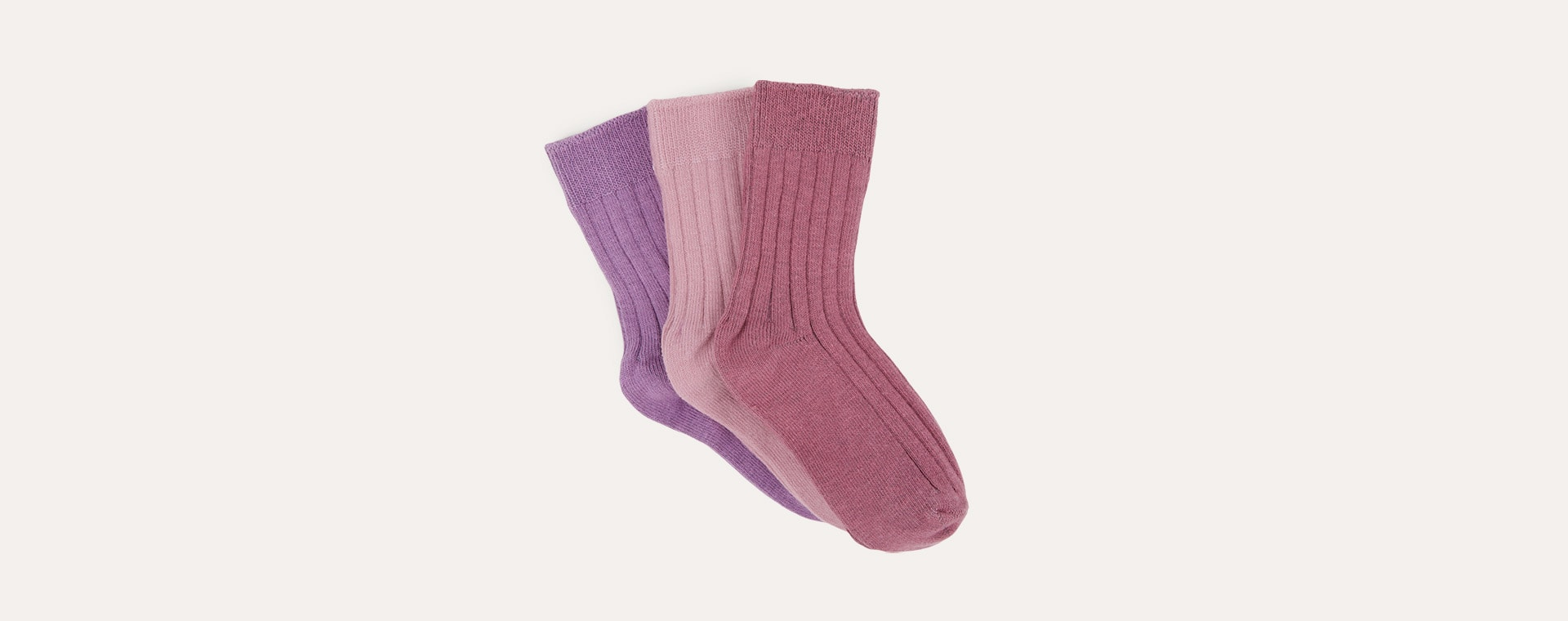Heather Mix KIDLY Label 3-Pack Socks