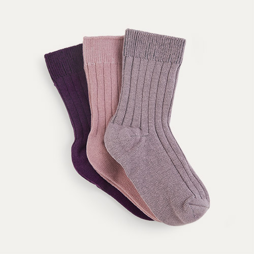 Peony Mix KIDLY Label 3-Pack Socks