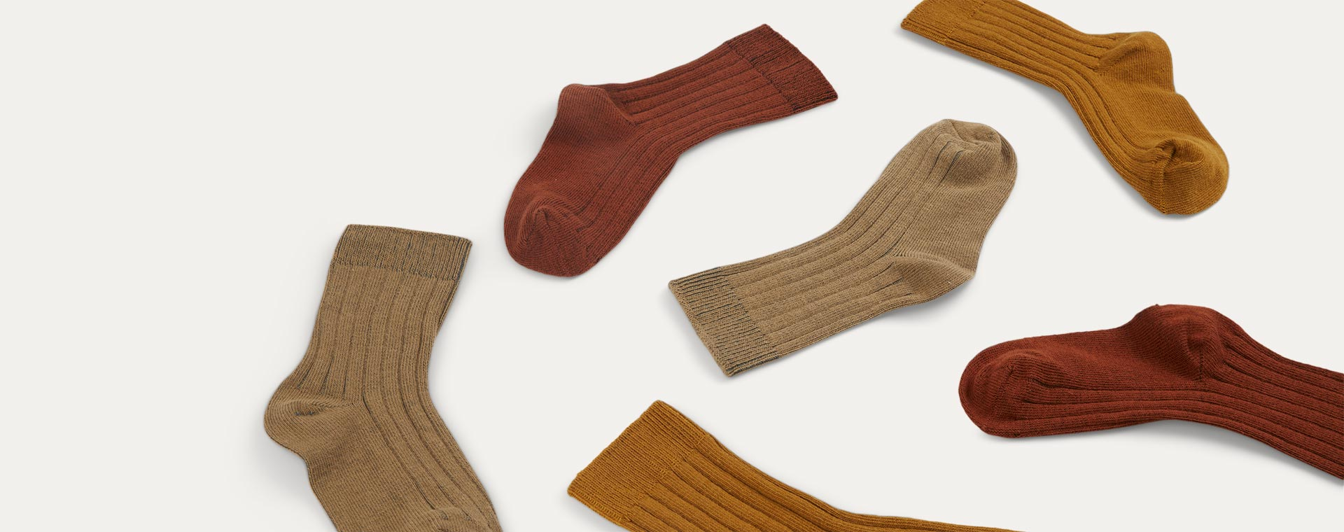 Mustard Mix KIDLY Label 3-Pack Socks