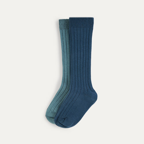 Ocean Mix KIDLY Label 2-Pack Long Socks