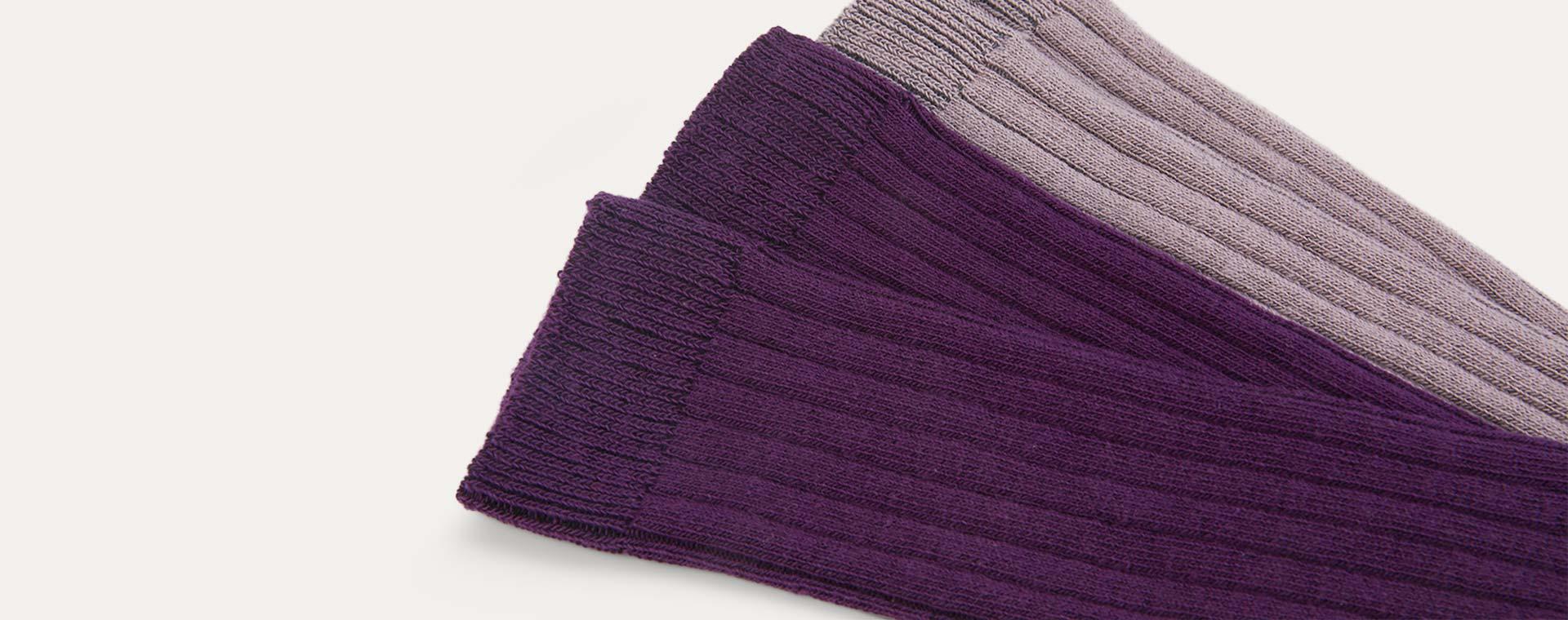 Lavender Mix KIDLY Label 2-Pack Long Socks