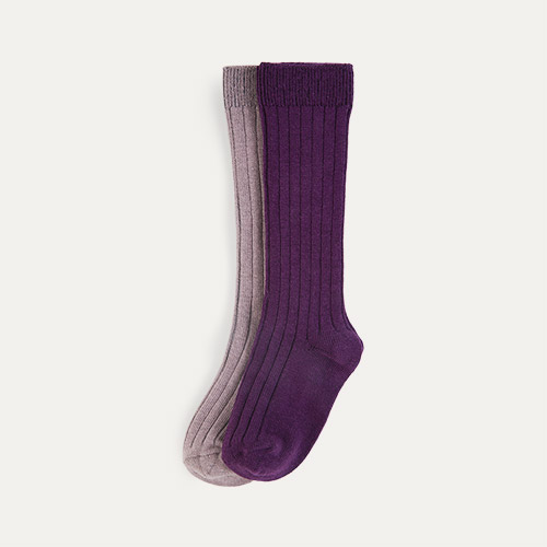 Lavender Mix KIDLY Label 2-Pack Long Socks
