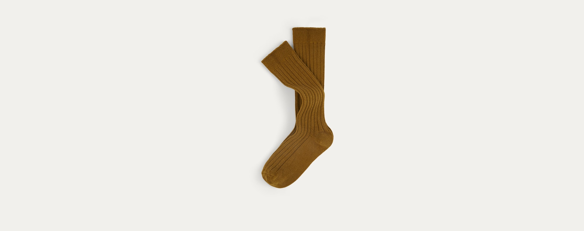 Mustard Mix KIDLY Label 2-Pack Long Socks