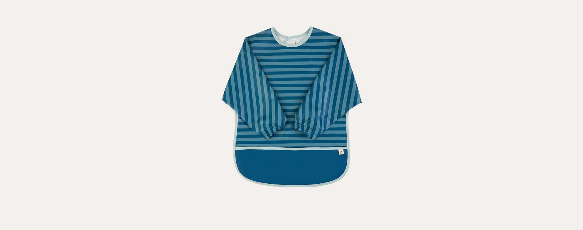 Blue Stripe KIDLY Label Recycled Coverall Bib