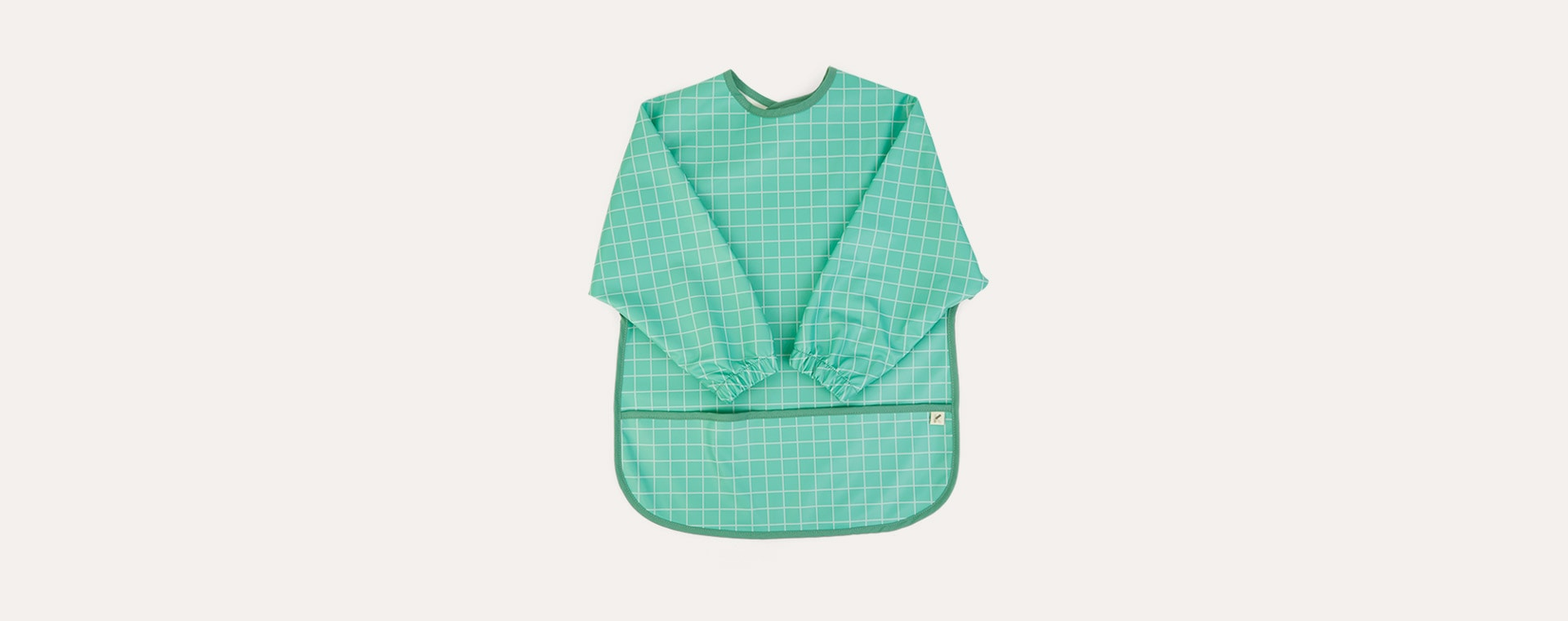 Mint Grid KIDLY Label Recycled Coverall Bib