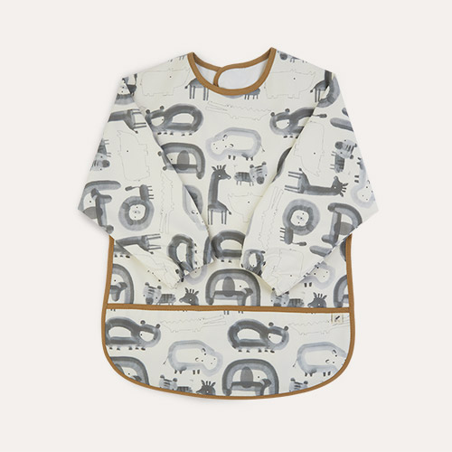 Grey Print KIDLY Label Recycled Coverall Bib
