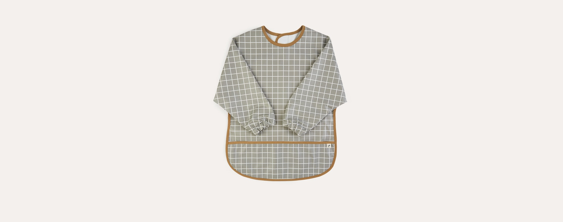 Grid Print KIDLY Label Recycled Coverall Bib