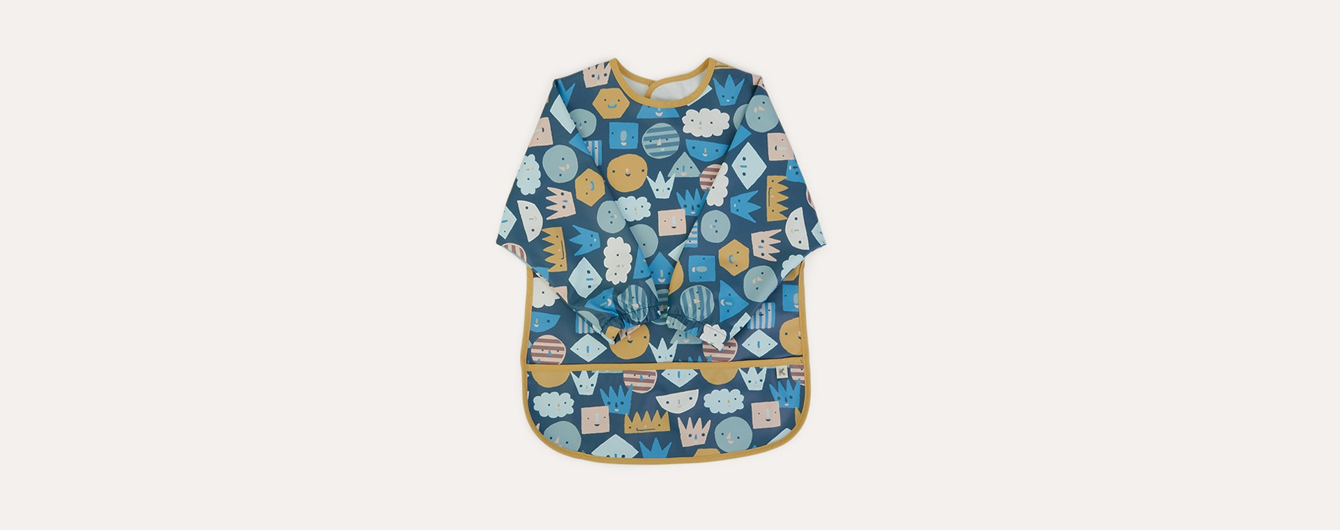 Faces Print KIDLY Label Recycled Coverall Bib