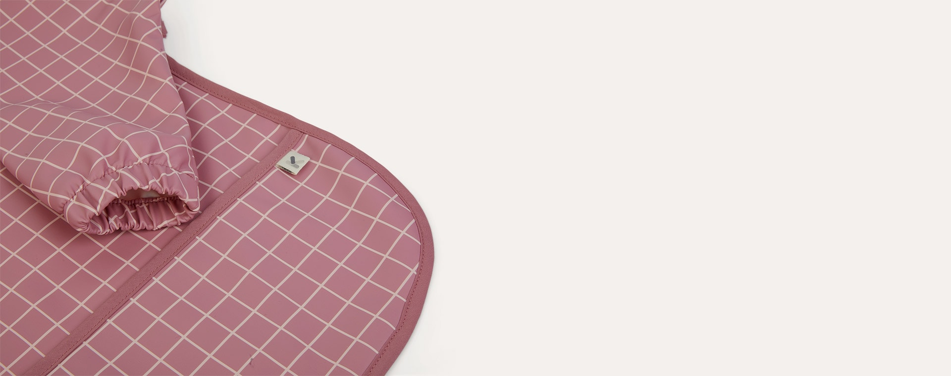 Rose Grid KIDLY Label Recycled Coverall Bib