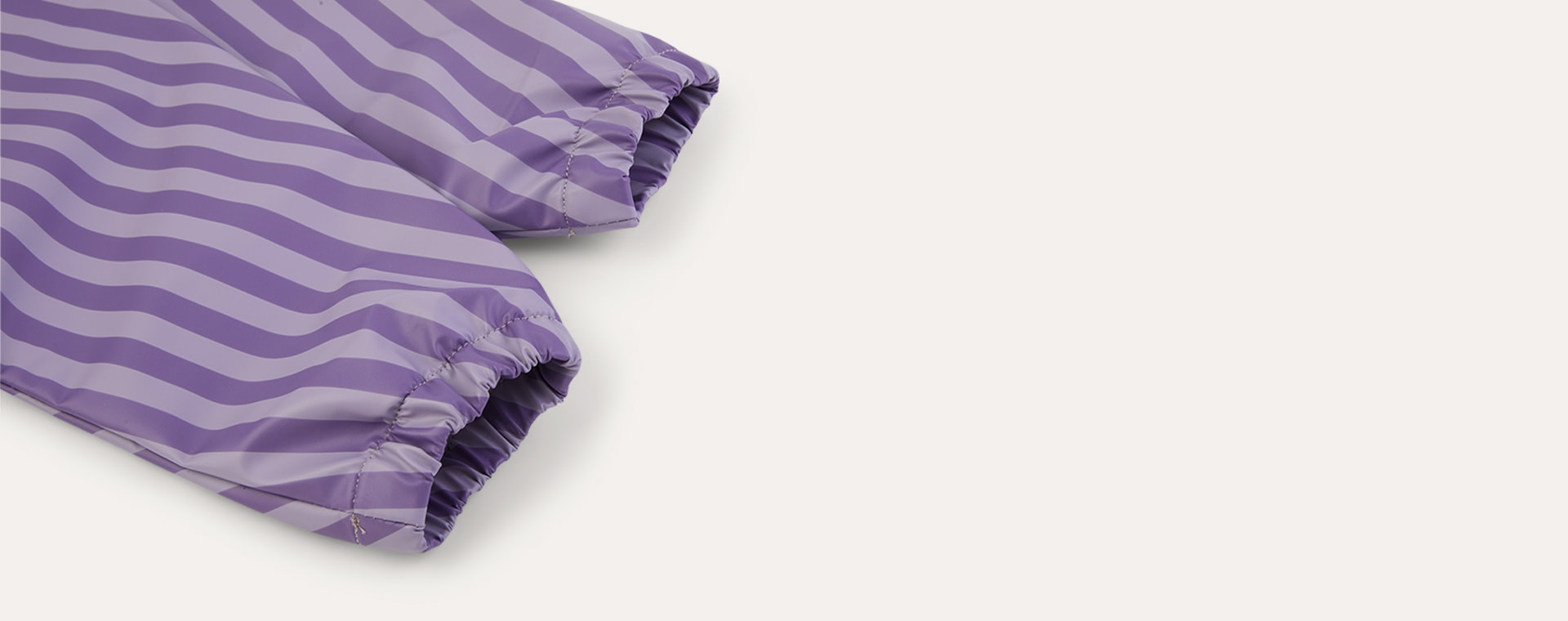 Lilac Stripe KIDLY Label Recycled Coverall Bib